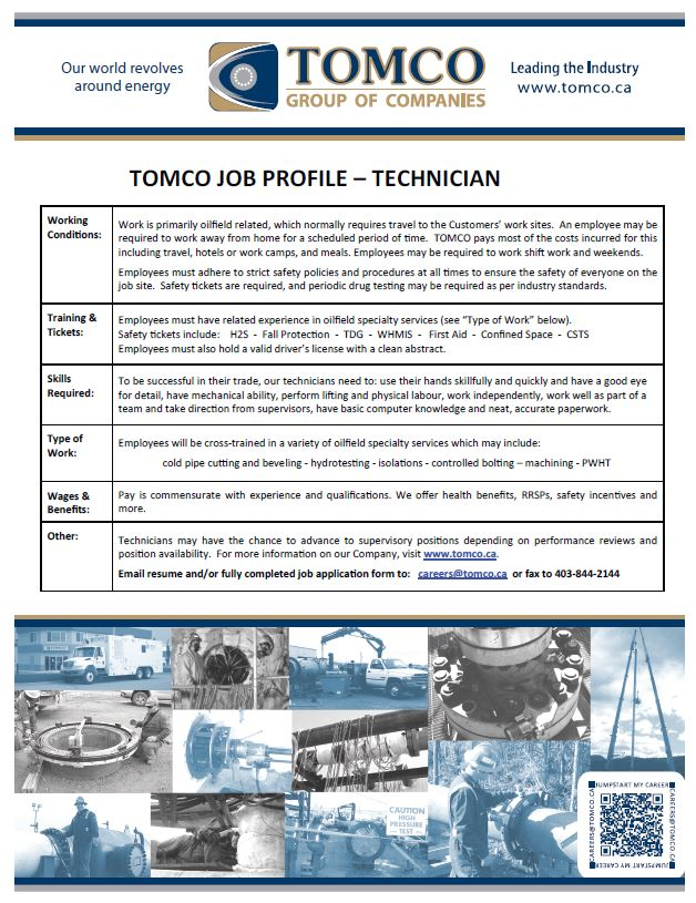 Job Profile - Technician