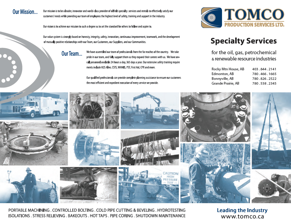 TOMCO Production Services Brochure